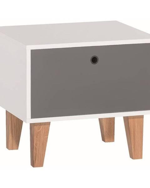 Vox Sivo-biely nočný stolík Vox Concept