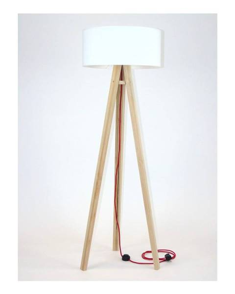 Ragaba Stojacia lampa s bielym tienidloma červeným káblom Ragaba Wanda