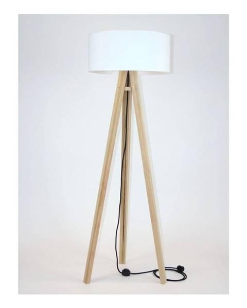 Ragaba Stojacia lampa s bielym tienidloma čiernym káblom Ragaba Wanda