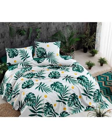 Bavlnená prikrývka cez posteľ Russno Jungle, 200×235 cm