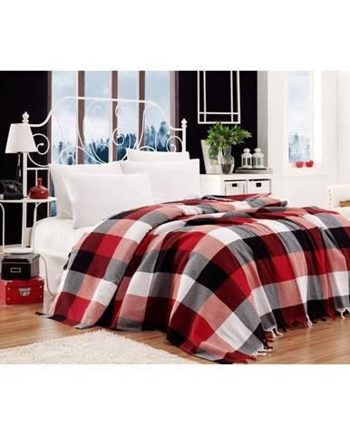 Bavlnený pléd pres postel na dvojlôžko Single Pique Kicho, 200×240 cm