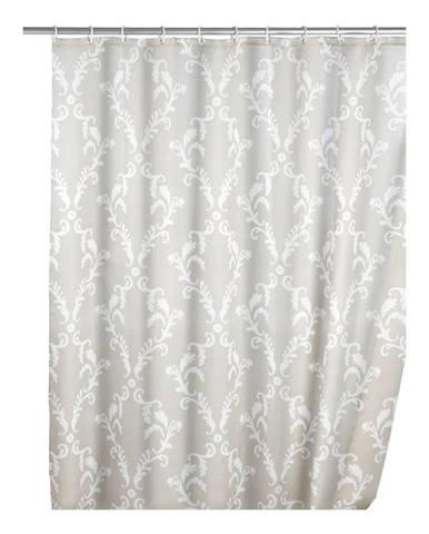 Sivý sprchový záves Wenko Baroque, 180×200 cm