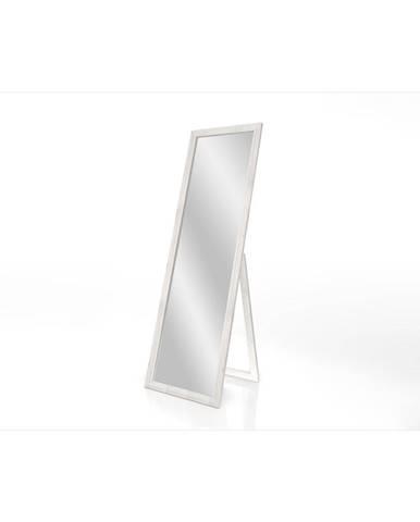 Stojacie zrkadlo s bielym rámom Styler Sicilia, 46 x 146 cm