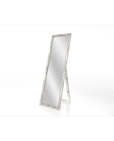 Stojacie zrkadlo s rámom s patinou Styler Sicilia, 46 x 146 cm