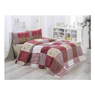 Ľahká prešívaná bavlnená prikrývka cez posteľ Victoria Butterfly, 140×200 cm