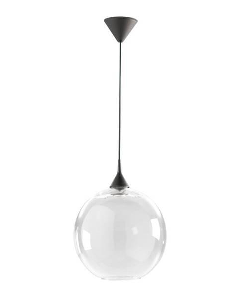 Really Nice Things Biele závesné svietidlo z recyklovaného skla Surdic, Ø 33 cm