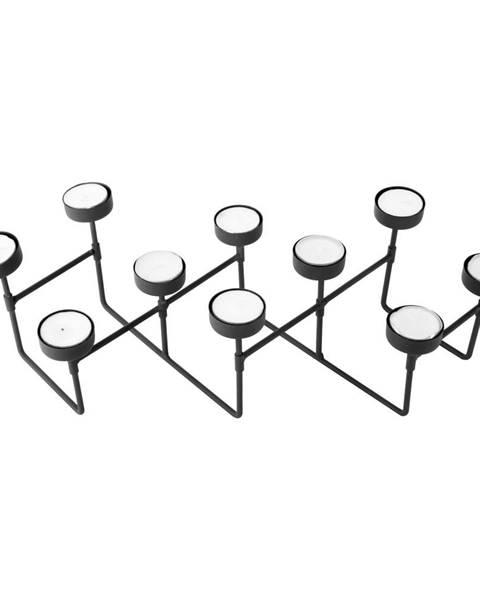 PT LIVING Čierny stojan na čajové sviečky PT LIVING Harmonica
