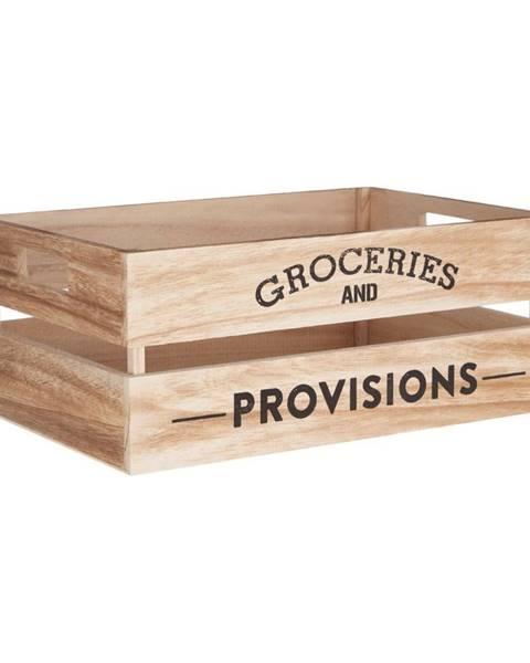 Premier Housewares Drevený úložný box Premier Housewares Provisions, 25×35 cm