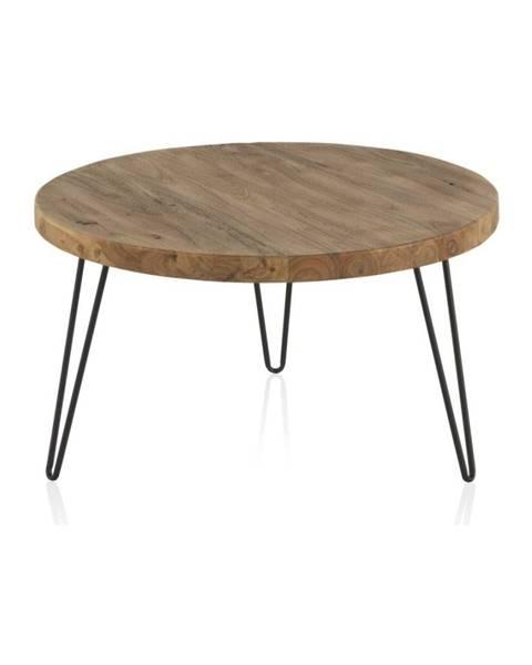 Geese Konferenčný stolík s doskou z brestového dreva Geese Camile, ⌀71 cm