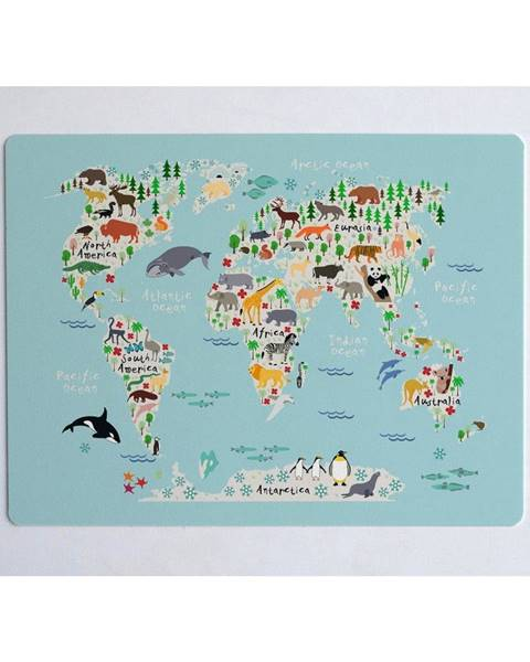 Little Nice Things Podložka na stôl Little Nice Things World Map, 55 × 35 cm