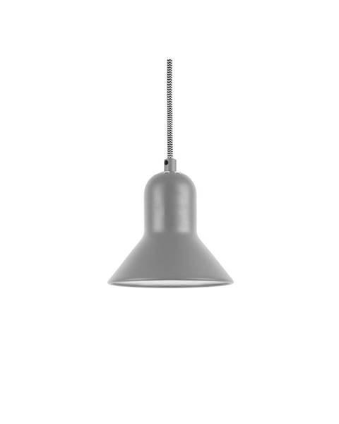 Leitmotiv Sivé závesné svietidlo Leitmotiv Slender, výška 14,5 cm