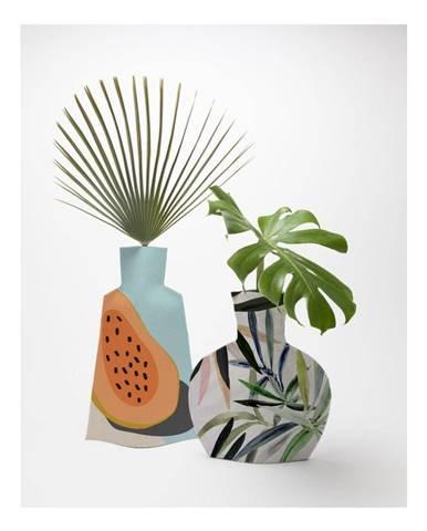 Sada 2 textilných váz na kvety Really Nice Things Tropical