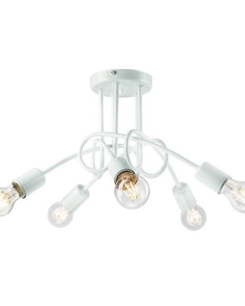 LAMKUR Biele závesné svietidlo pre 5 žiaroviek Lamkur Camilla