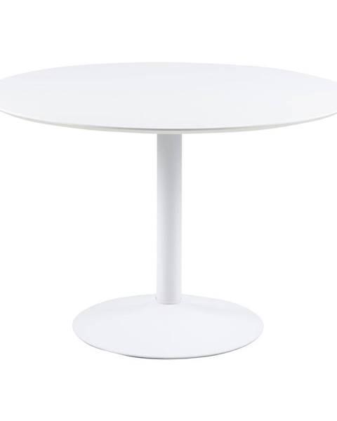 Actona Biely guľatý jedálenský stôl Actona Ibiza, ⌀ 110 cm