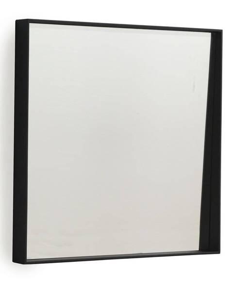 Geese Čierne nástenné zrkadlo Geese Thin, 40×40 cm