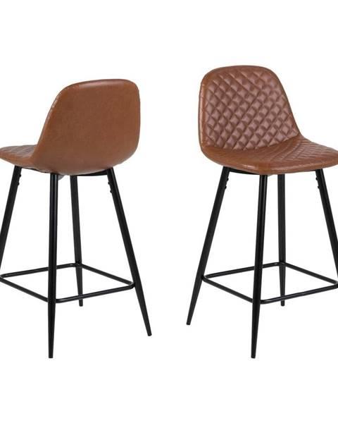 Actona Hnedá barová stolička Actona Wilma