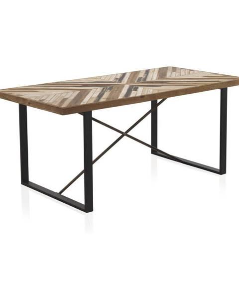 Geese Jedálenský stôl s kovovými nohami a doskou z recyklovaného dreva Geese, 180 x 90 cm