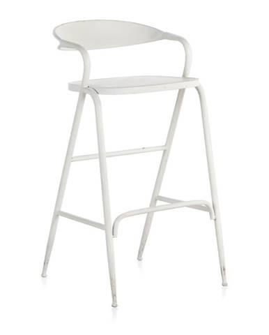 Biela kovová stolička Geese Industrial Style