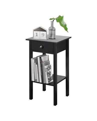 Čierny nočný stolík Støraa Tango