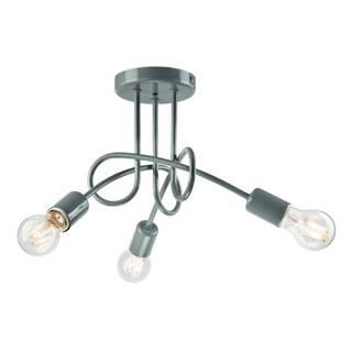 Sivé závesné svietidlo pre 3 žiarovky Lamkur Camilla