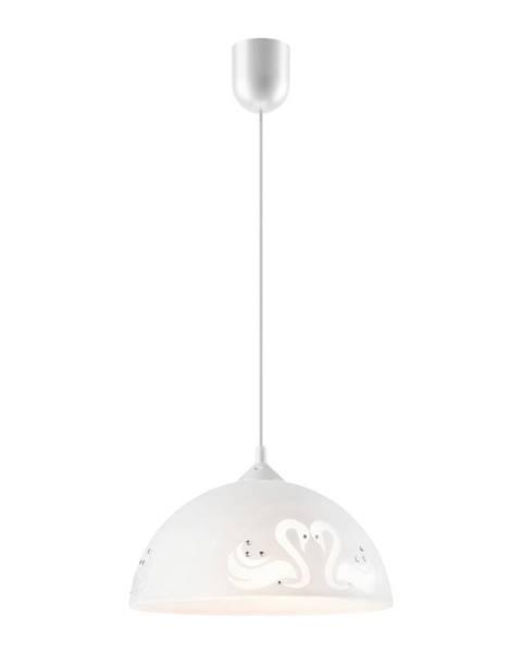 LAMKUR Biele závesné svietidlo Lamkur Swan