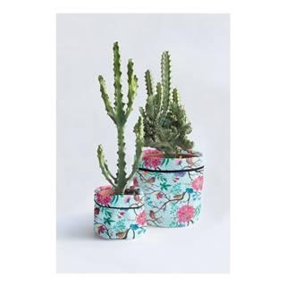 Súprava 2 textilných obalov na kvetináč Madre Selva Carmencita