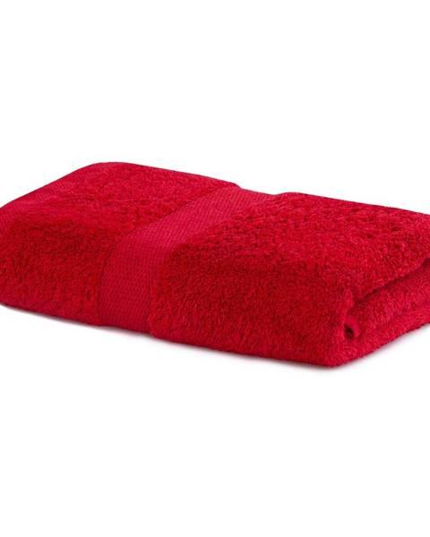 DecoKing Červený uterák DecoKing Marina, 50 × 100 cm