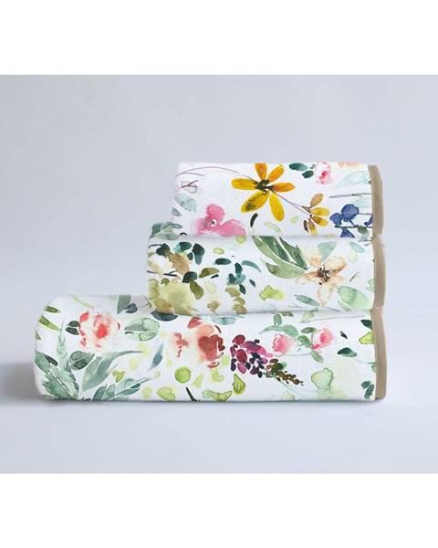 Surdic Súprava 3 uterákov z bavlny a mikrovlákna Surdic Calm Flowers