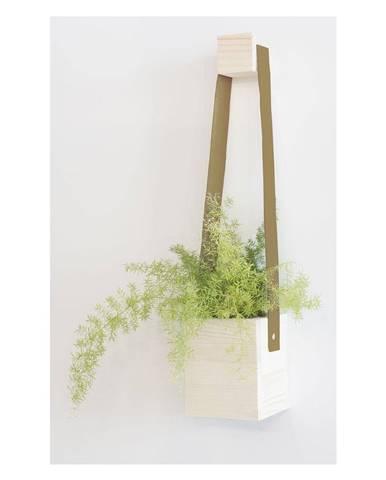 Hnedý kvetináč z jedľového dreva Surdic Colgante, 17 x 62 cm