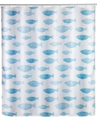 Sprchový záves odolný voči plesniam Wenko Aquamarin, 180 x 200 cm