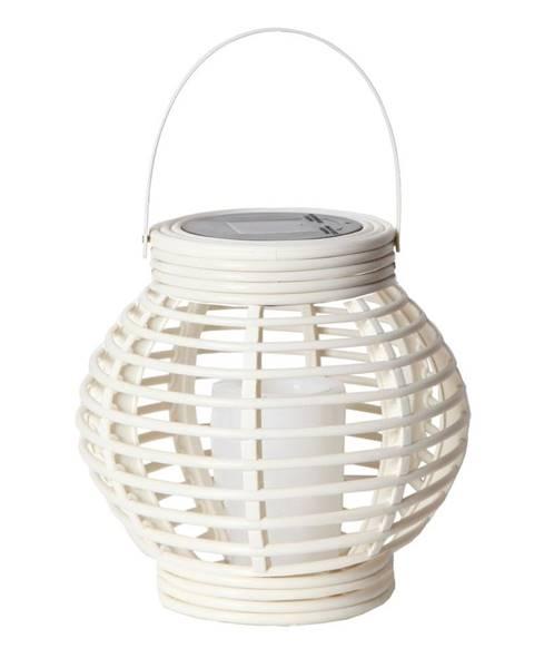 Best Season Biely solárny LED lampáš vhodný do exteriéru Best Season Rustic