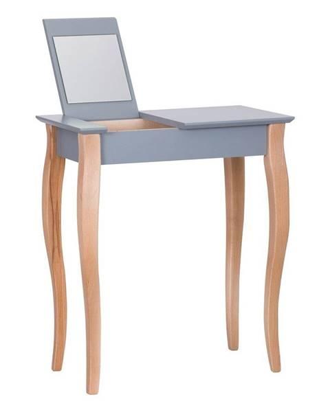 Ragaba Tmavosivý toaletný stolík so zrkadlom Ragaba Dressing Table, dĺžka 65 cm