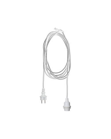 Biely kábel s koncovkou pre žiarovku Best Season Cord Ute, dĺžka 2,5 m