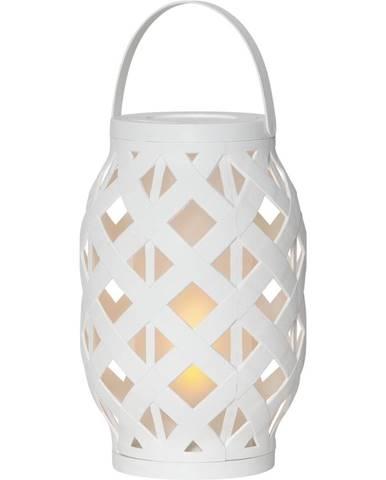 Biely lampáš Best Season Flame Lantern, 15 x 23 cm