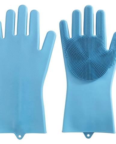 Pár silikónových rukavíc na umývanie riadu Wenko Rena