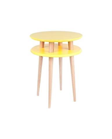 Žltý konferenčný stolík Ragaba UFO, ⌀ 45 cm