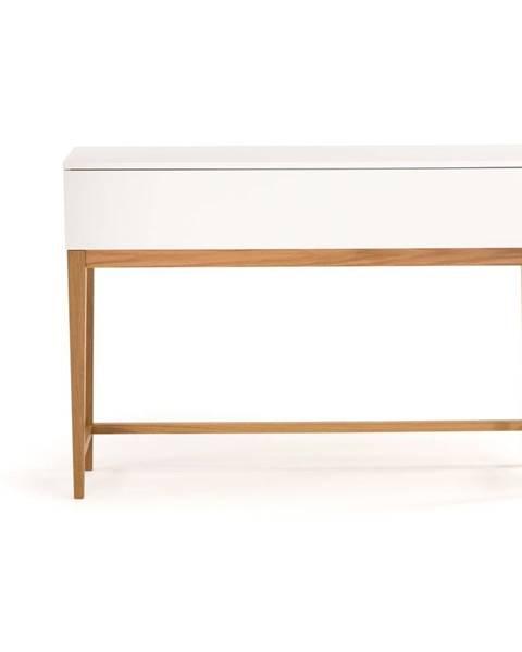Woodman Biely konzolový stôl Woodman Blanco