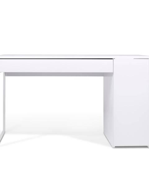 TemaHome Pracovný stôl Prado, biele nohy