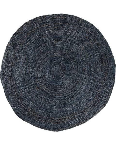 House Nordic Tmavosivý okrúhly koberec HoNordic Bombay, ø 150 cm
