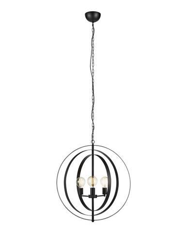 Čierne závesné svietidlo Markslöjd Orbit Pendant 3L
