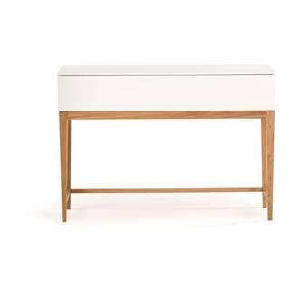 Biely konzolový stôl Woodman Blanco