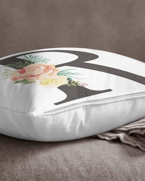 Minimalist Cushion Covers Obliečka na vankúš Minimalist Cushion Covers Floral Alphabet R, 45 x 45 cm