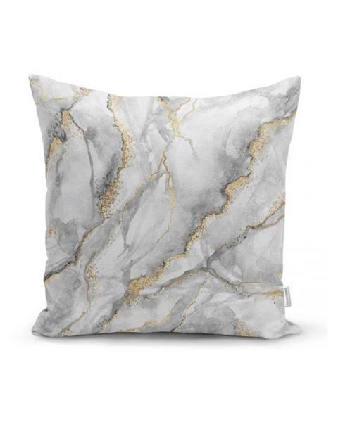 Minimalist Cushion Covers Obliečka na vankúš Minimalist Cushion Covers Marble With Hint Of Gold, 45 x 45 cm
