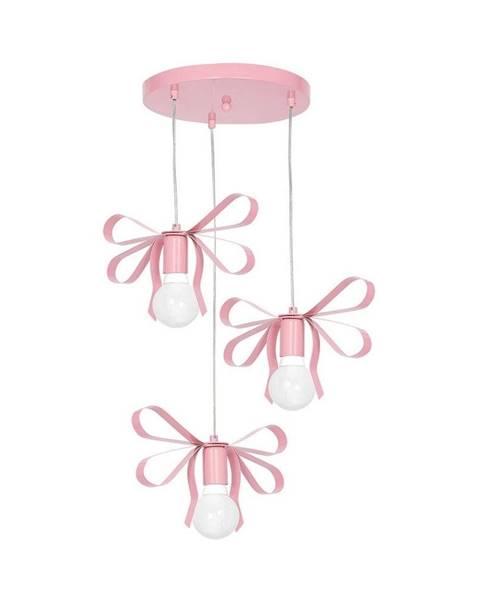 Homemania Ružové závesné svietidlo Homemania Emma Tres