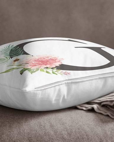 Obliečka na vankúš Minimalist Cushion Covers Floral Alphabet G, 45 x 45 cm