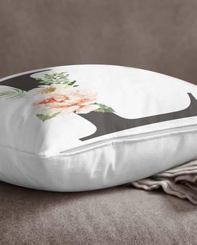 Obliečka na vankúš Minimalist Cushion Covers Floral Alphabet L, 45 x 45 cm
