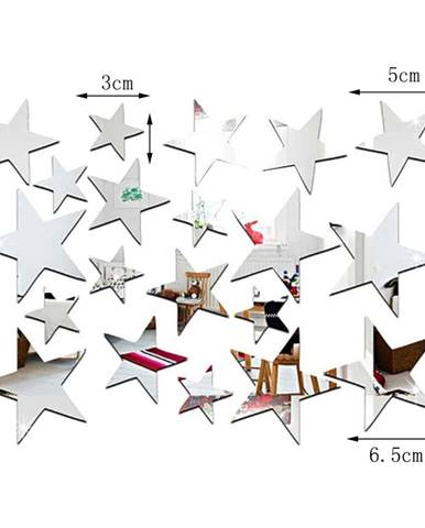 Sada 20 zrkadlových samolepiek Ambiance Stars