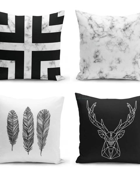 Minimalist Cushion Covers Sada 4 obliečok na vankúše Minimalist Cushion Covers Faria, 45 x 45 cm