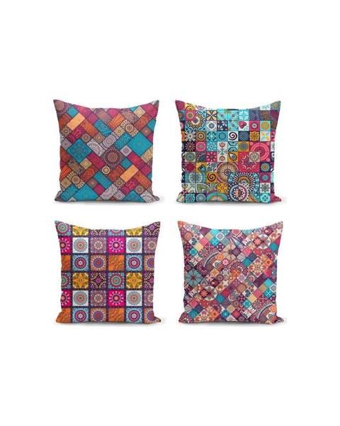 Minimalist Cushion Covers Súprava 4 obliečok na vankúše Minimalist Cushion Covers Fearie, 45 x 45 cm