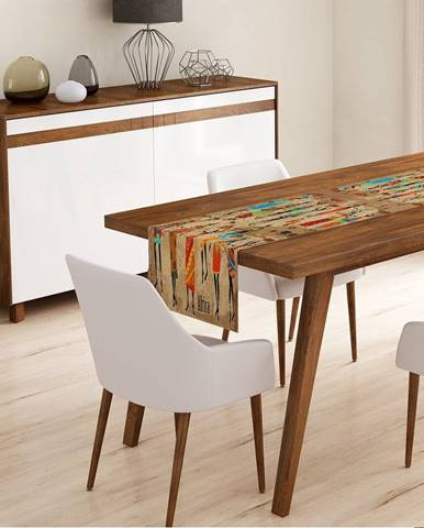 Behúň na stôl z mikrovlákna Minimalist Cushion Covers Mentio, 45x145cm
